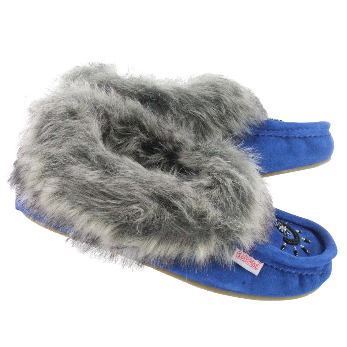 """SoftMoc's moccasins are like a steaming cup of cocoa for your feet – warm, inviting, and perfect for curling up when the weather outside is frightful. Available in this season's staple colour, cobalt, these """"Cute Faux Me"""" moccasins will become your favourite casual shoes guaranteed."""