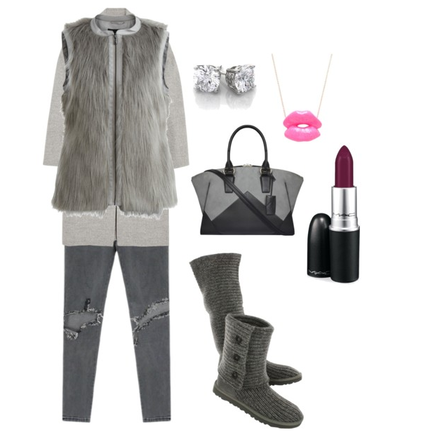 CLASSIC CARDY  Grey   Polyvore