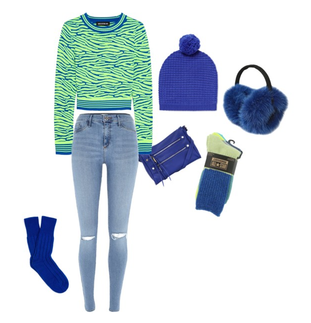 """Combat the winter blues with something blue – cobalt blue, that is – and watch your mood improve instantly! These Converse """"Tri-Panel"""" cobalt blue socks may be just that streak of good luck that you need to not fall into a pit of black ice this winter!"""
