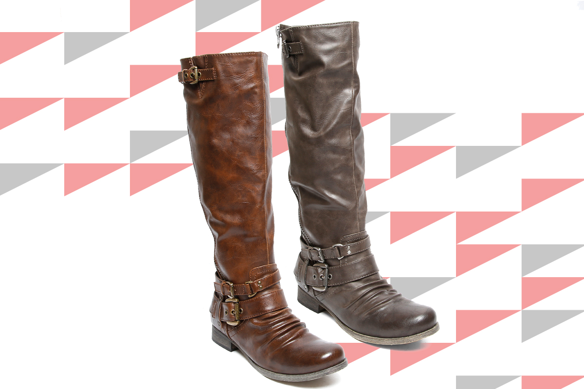 "If you prefer a shorter shaft, no worries! These cognac and grey SoftMoc ""Brenna"" boots will do the trick. The boots' side buckles add the right amount of detailing that perfectly complements the distressed look of the boot. Pair these with anything – over a pair of your favourite skinny jeans, over tights worn under a skater dress – whatever you wear; these boots will surely help you make a statement."