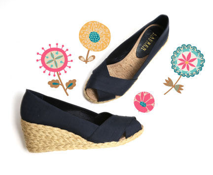 """These Lauren by Ralph Lauren """"Cecilia"""" espadrille wedges are primed for summer frolicking. Pair these with your favourite maxi or midi dress for a feminine, effortless look."""